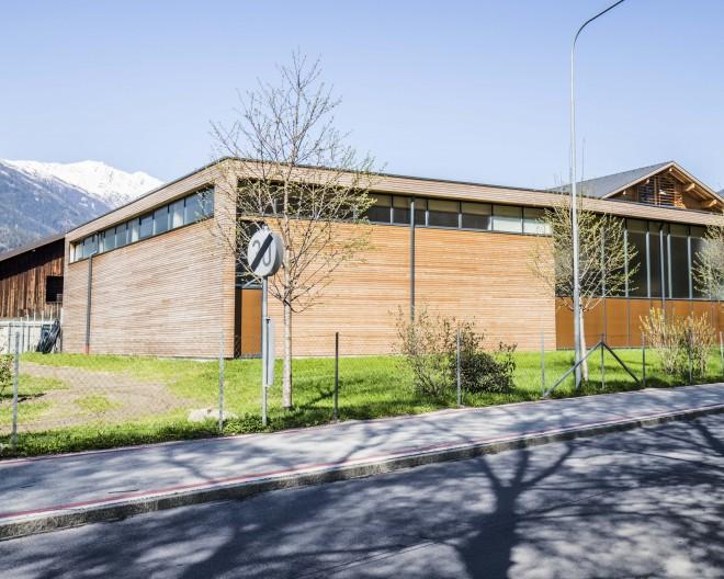 Landwirtschaftliche Lehranstalt Lienz, Neubau Maschinenhalle